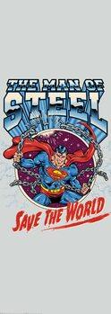 Umělecký tisk Superman zachraňuje svět