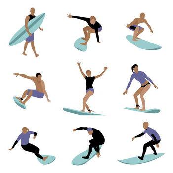 Obrazová reprodukce Surfers