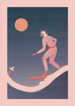 Ilustracja Surfing on other planets