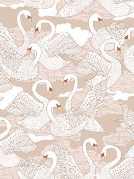 Ilustracja Swans - Cotton