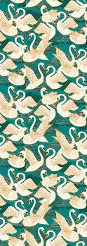 Ilustracija Swans Turquoise