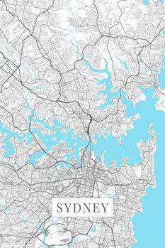 Mapa Sydney white
