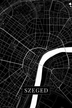 Mapa Szeged black