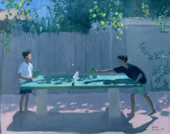 Table Tennis, France, 1996 Kunstdruck