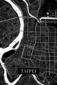Mapa Taipei black