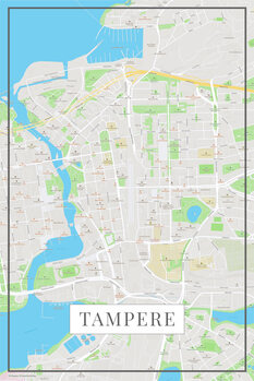 Mapa Tampere color