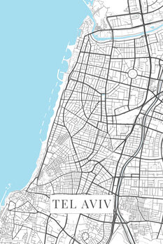 Mapa Tel Aviv white