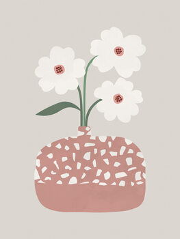 Ilustracja Terrazzo & Flowers