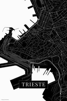 Mapa Terst black