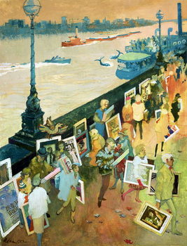 Thames Embankment, front cover of 'Undercover' magazine, published December 1985 Kunstdruck
