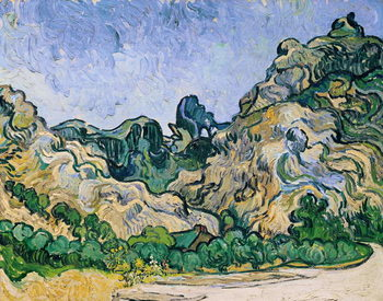 The Alpilles, 1889 Kunstdruk