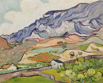 The Alpilles, 1890 Kunsttryk