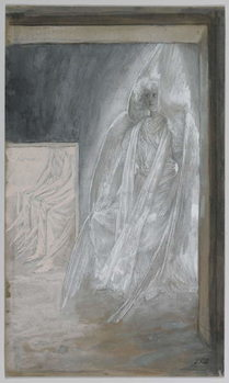 Obrazová reprodukce  The Angel Seated on the Stone of the Tomb, illustration from 'The Life of Our Lord Jesus Christ', 1886-94