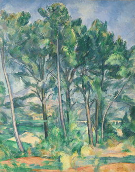 Reproducción de arte  The Aqueduct (Montagne Sainte-Victoire seen through Trees), c.1885-87
