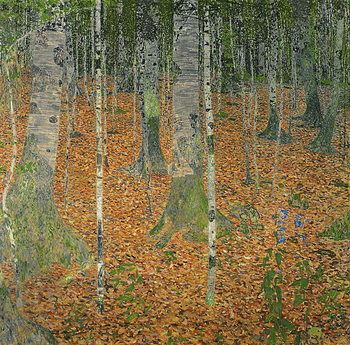 The Birch Wood, 1903 Kunsttryk