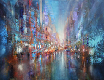 Ilustrace The blue city