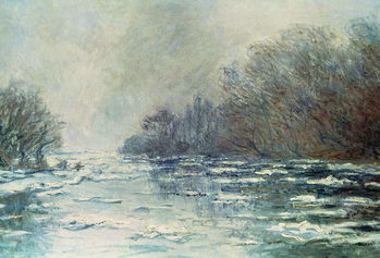 The Break up at Vetheuil, c.1883 Kunsttryk
