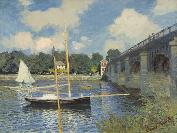The Bridge at Argenteuil, 1874 Kunstdruk
