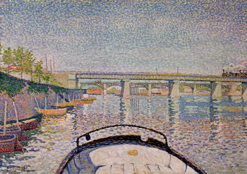 The Bridge at Asnieres, 1888 Kunstdruk