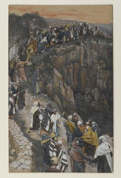 Reproducción de arte  The Brow of the Hill near Nazareth, illustration from 'The Life of Our Lord Jesus Christ'