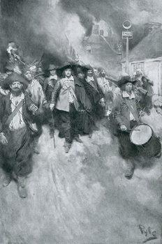 Umelecká tlač The Burning of Jamestown, 1676