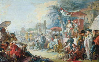 The Chinese Fair, c.1742 Kunsttryk