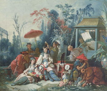 The Chinese Garden, c.1742 Kunsttryk