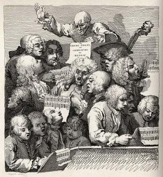 Artă imprimată The Chorus, from 'The Works of William Hogarth'