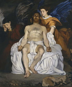 The Dead Christ with Angels, 1864 Kunstdruck