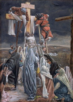 Reproducción de arte  The Descent from the Cross, illustration for 'The Life of Christ', c.1884-96