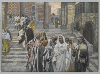 Reproduction de Tableau The Disciples Admire the Buildings of the Temple