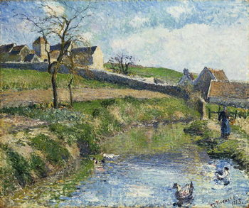 The Farm at Osny, 1883 Kunstdruk