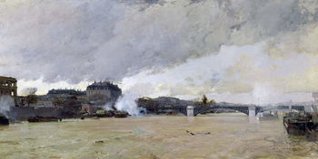 The Flooding of the Seine, c.1903 Reproduction de Tableau