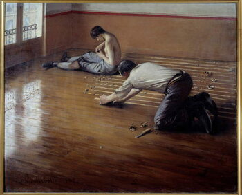 Obrazová reprodukce The floor planers. Painting by Gustave Caillebotte , 1876. Private collection. - The Floor planers (or the Floor Scrapers). Painting by Gustave Caillebotte , 1876. Private collection