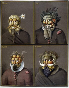 Obrazová reprodukce The four seasons: men with vegetable heads in the way of Giuseppe Arcimboldo.