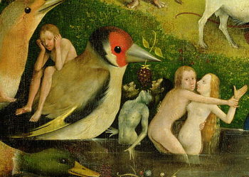 The Garden of Earthly Delights, 1490-1500 Reproduction de Tableau