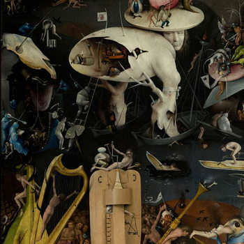 The Garden of Earthly Delights, 1490-1500 Obrazová reprodukcia