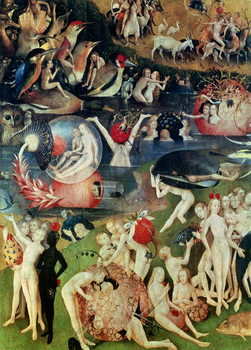 The Garden of Earthly Delights, 1490-1500 Kunstdruck
