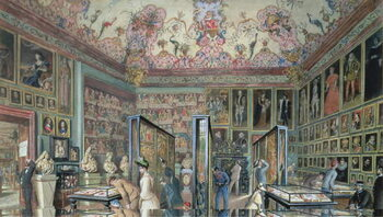 Obrazová reprodukce The Genealogy Room of the Ambraser Gallery in the Lower Belvedere, 1888