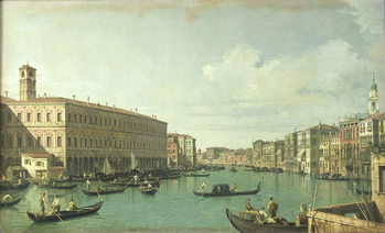 Reproducción de arte  The Grand Canal from the Rialto Bridge