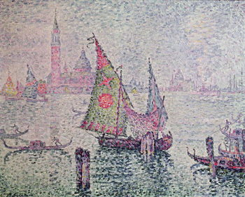 The Green Sail, Venice, 1904 Kunsttryk