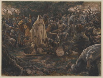 Reproducción de arte The Guards Falling Backwards, illustration from 'The Life of Our Lord Jesus Christ', 1886-94
