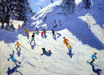 The Gully, Belle Plagne, 2004 Kunstdruck