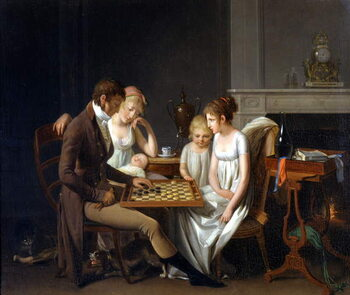 Obrazová reprodukce The Ladies Part Painting by Louis Leopold Boilly, 1803 Paris Fondation Cailleux