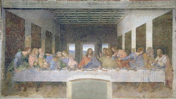 The Last Supper, 1495-97 (fresco) Kunstdruck