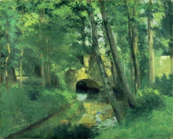 The Little Bridge, Pontoise, 1875 Reproduction d'art