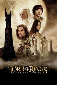 Konsttryck The Lord of the Rings - Två torn