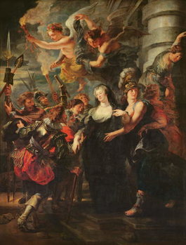 The Medici Cycle: Marie de Medici (1573-1642) Escaping from Blois, 21st-22nd February 1619, 1621-25 Kunstdruck