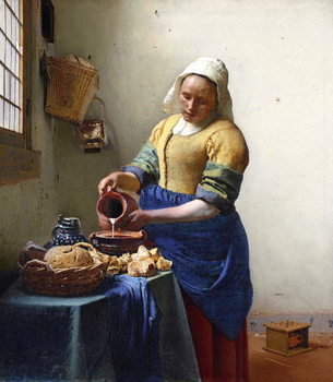 Reprodukcija umjetnosti The Milkmaid, c.1658-60