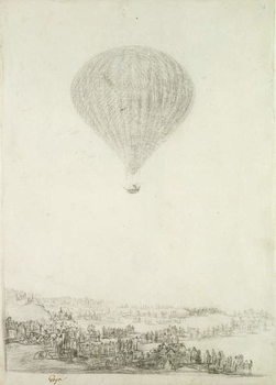 The Montgolfier Brothers, c.1800-08 Reproduction de Tableau